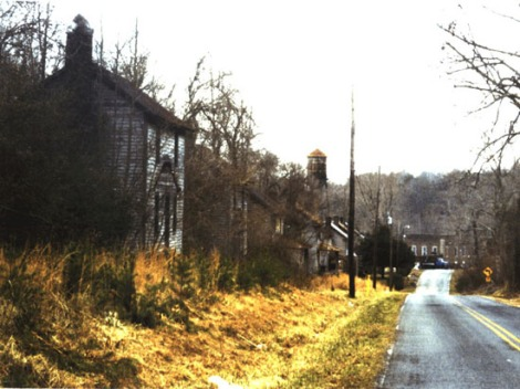 Alamance County - Glencoe Mill Village Street - Before