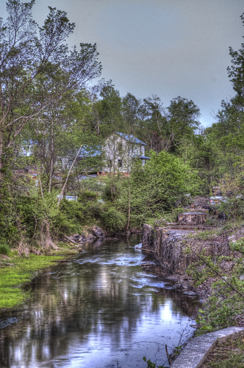 View of the Mill Race at Glencoe Mill Village by Rafe Martin